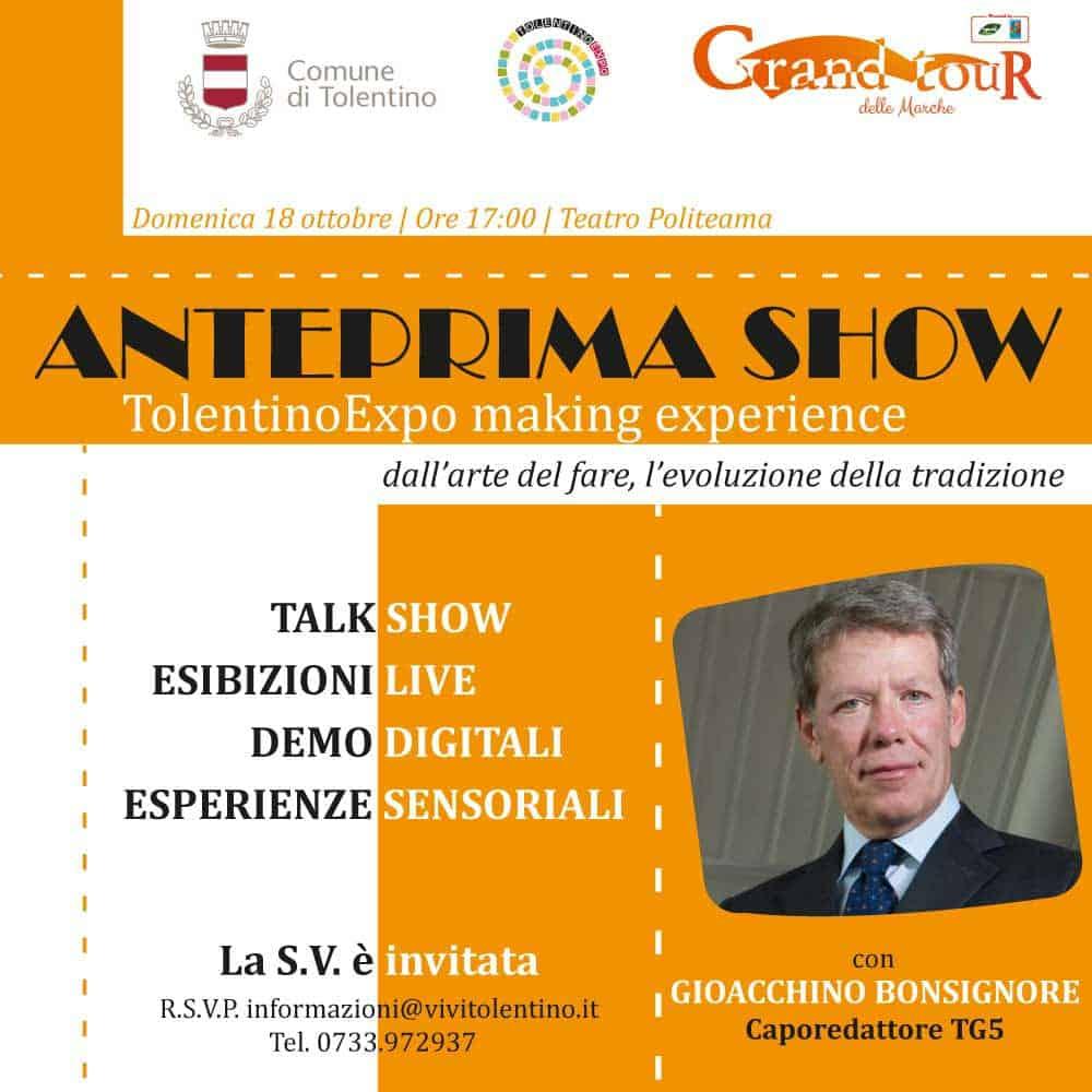 Anteprina Show - TolentinoExpo making experience