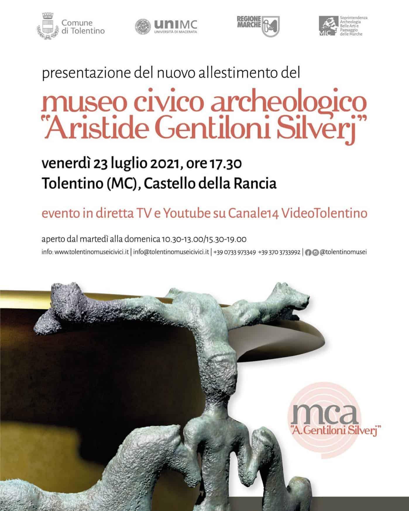 """Inaugurazione nuovo allestimento del Museo Civico Archeologico """"Aristide Gentiloni Silverj"""""""