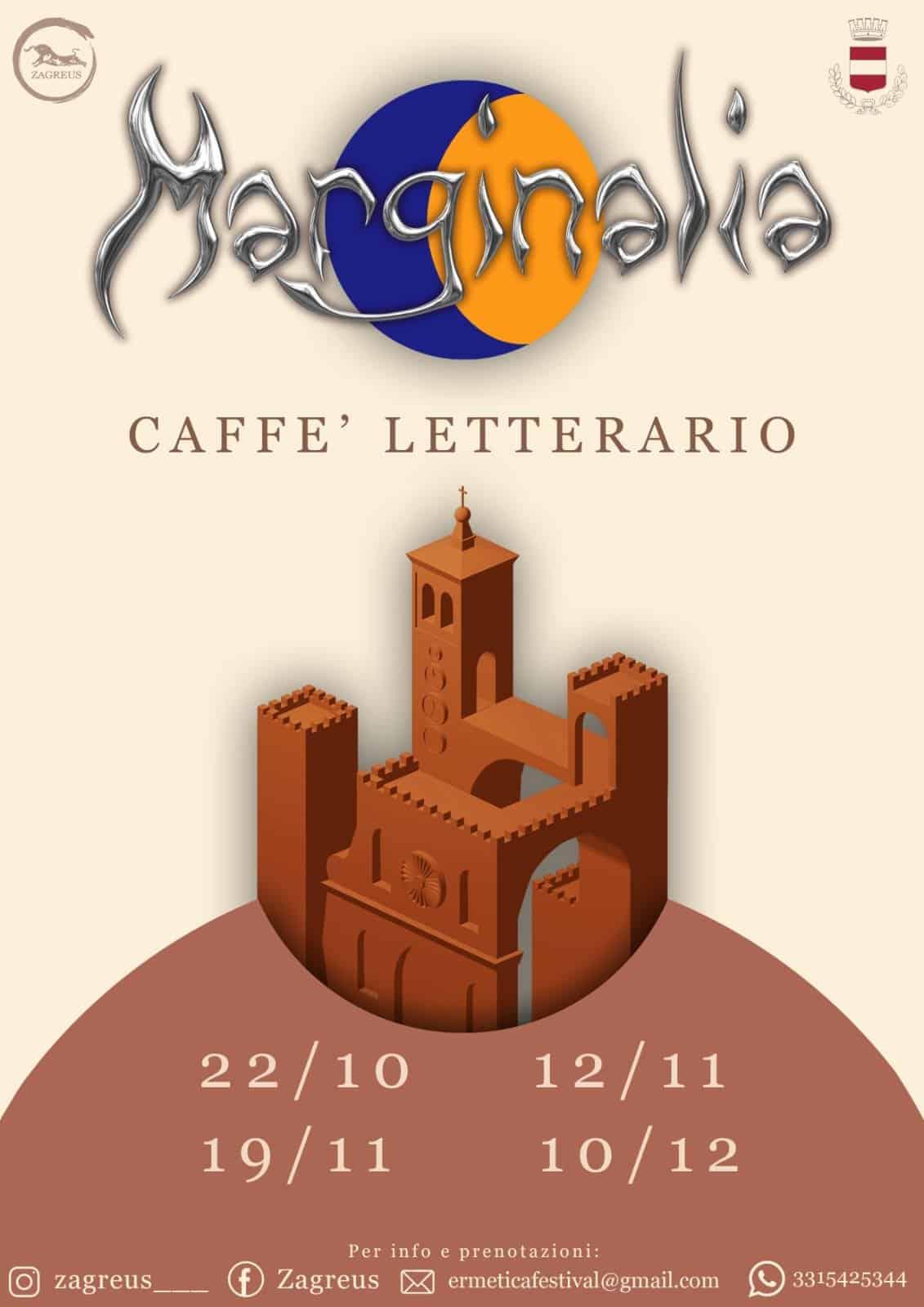 MARGINALIA – CAFFE' LETTERARIO